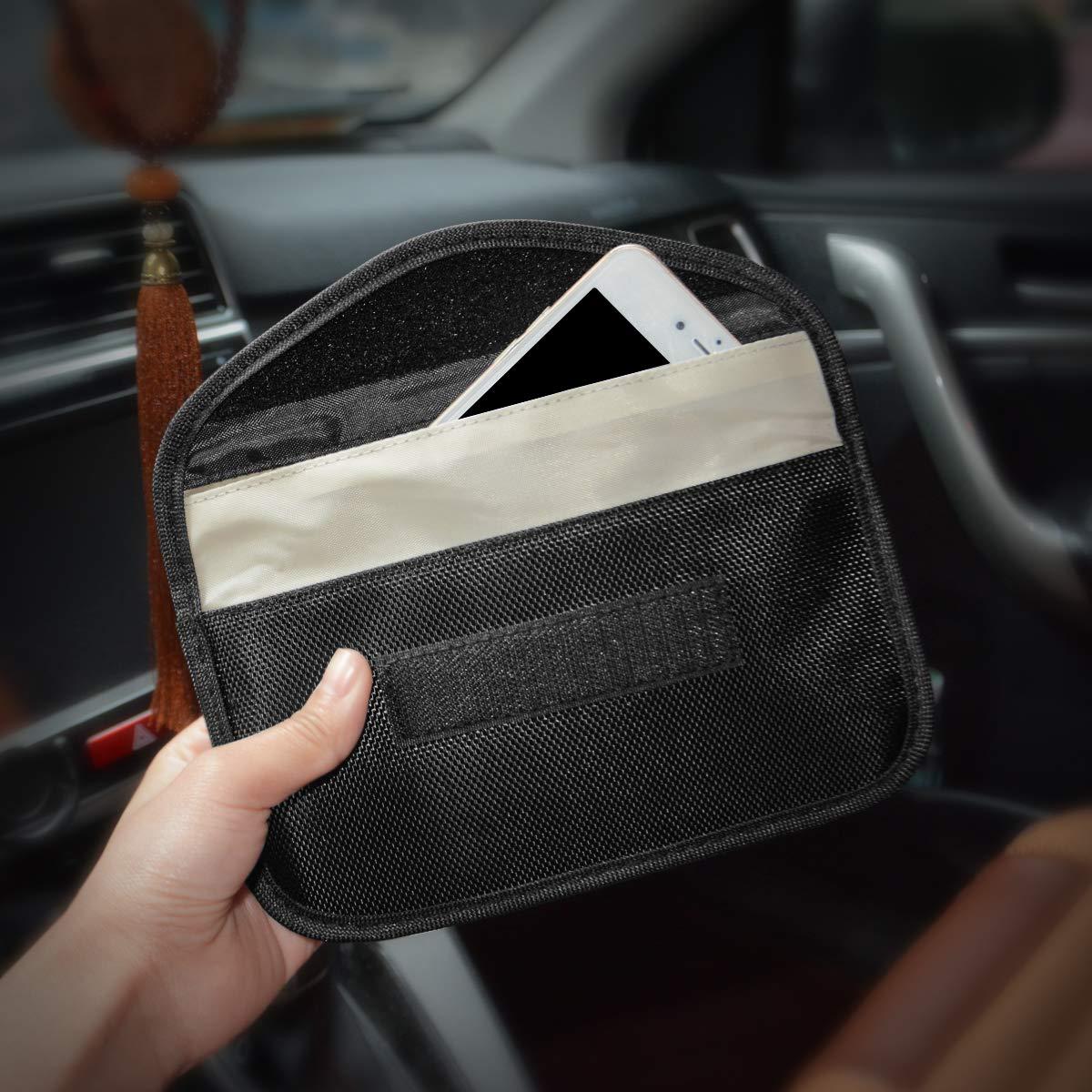 RFID Key Safe Strahlenschutz Tasche MONOJOY Auto Signal Keyless Schl/üsseletui Funkschl/üssel Abschirmung 2 Packungen Keyless Go Schutz Autoschl/üssel