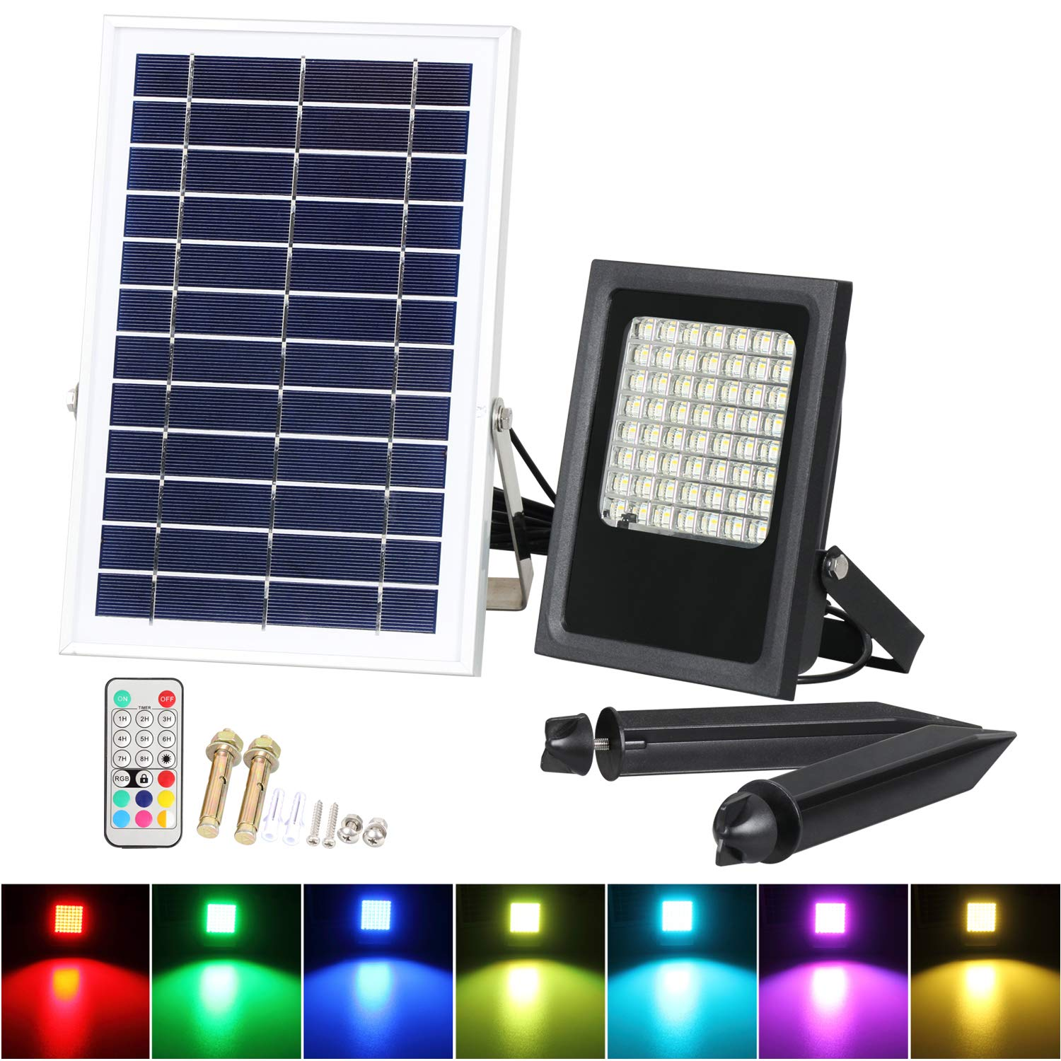30W RGB Floodlights, T-SUNRISE Multi Colors LED Security Light, 16 Colours & 4 Modes, UK 3-Plug & Remote Control, IP65 Waterproof LED Floodlight, Wall Washer Light for Garden, Yard, Warehouse Sidewalk [Energy Class A+]