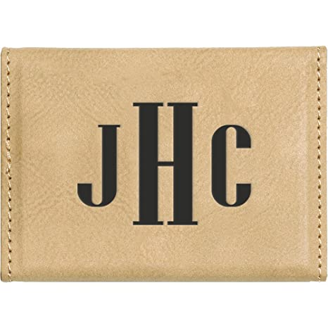 Amazon Custom Leatherette Business Card Holder Monogram