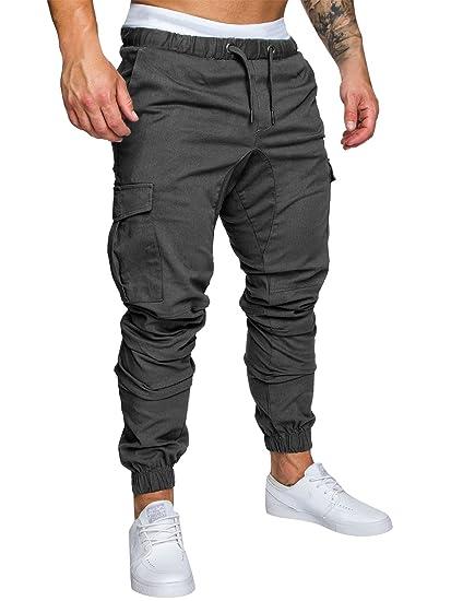 personnalisé convient aux hommes/femmes super promotions Homme Pantalon Casual Cargo Chino Jeans Sport Jogging Slim Fit Pantalon  Coton