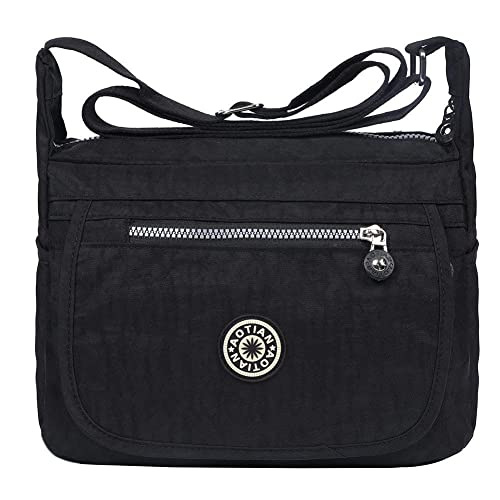 316d43737e EGOGO Water Resistant Nylon Casual Handbag Shoulder Bag Messenger Cross  Body Bag E303-6 (