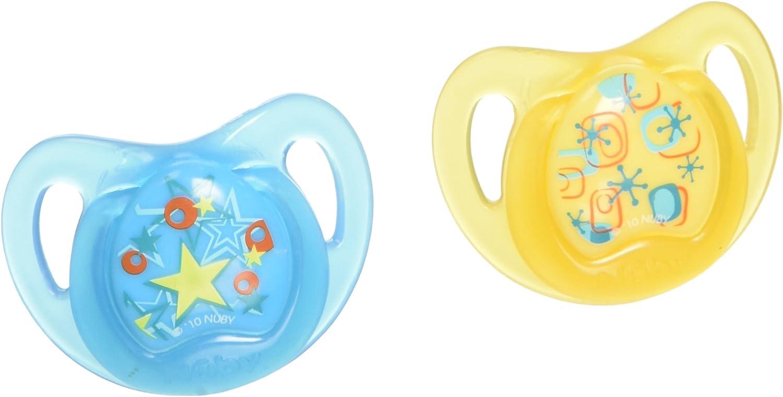 Nûby Prima Orthodontic - Pack de 2 chupetes, 0-6 meses, colores surtidos: Amazon.es: Bebé