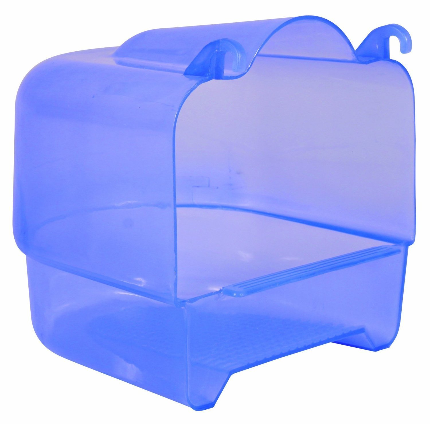 Trixie Transparent Plastic Bird Bath for Parakeets, Canaries, and Finches 54032