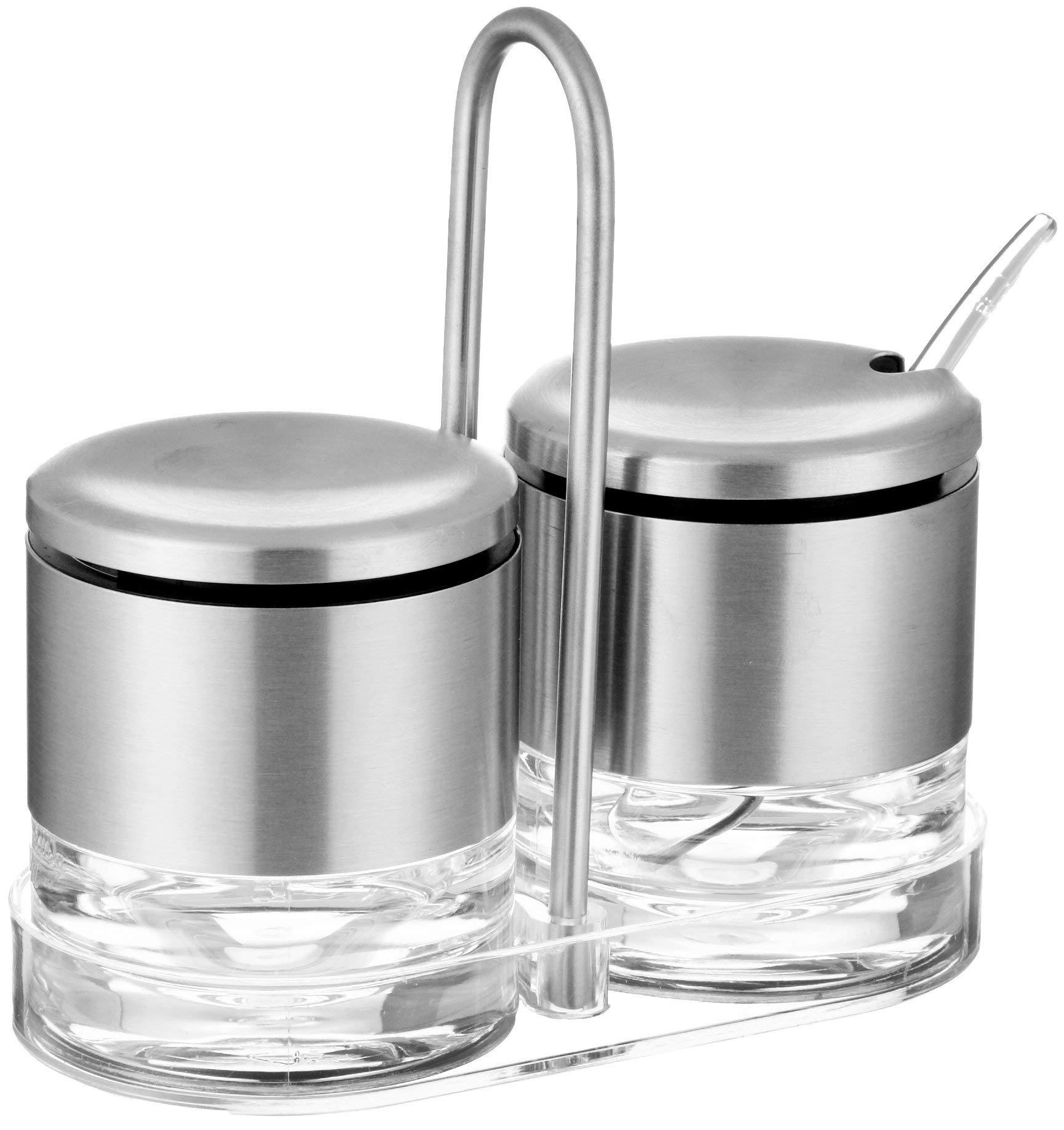 Emsa Cream Sugar Stand''Accenta'' of Stainless Steel, Silver