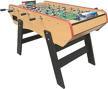 Baby Foot Bar Deluxe -Mesa Futbilin Madera-Version Stadium 148 x 98 cm: Amazon.es: Juguetes y juegos