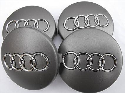 Juego de tapacubos de aleación de Audi de 60 mm de gran calidad para modelos 1