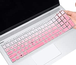 CaseBuy Keyboard Cover for HP EliteBook 850 G5 15.6 / EliteBook 850 G6 15.6 / HP EliteBook 755 G5 15.6 with Pointing, HP EliteBook 850 G5 G6 Protective Skin, Ombre Pink