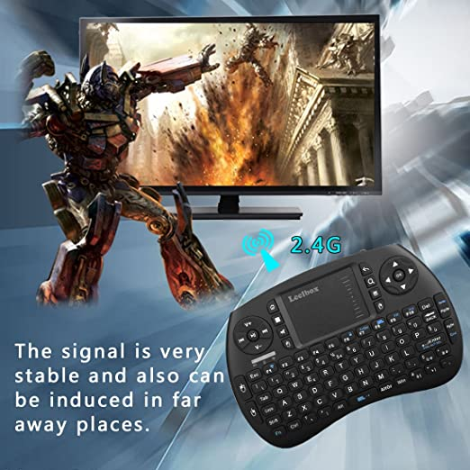 Leelbox Mini teclado inalámbrico teclado Android 2,4 gHz con Touchpad Ratón para Android TV Box PAD PC Smart TV, negro: Amazon.es: Electrónica