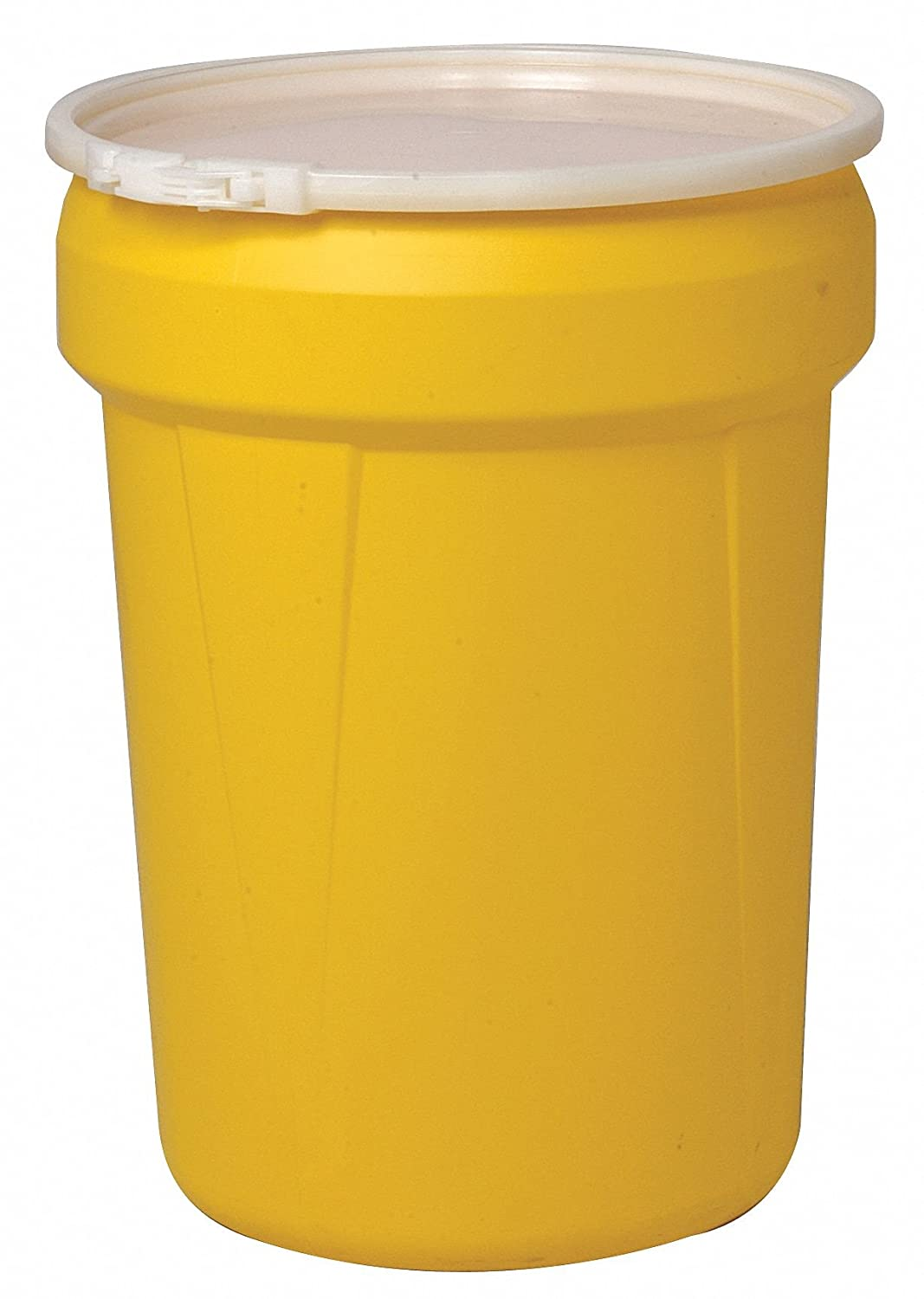 "Eagle 1601 Lab Pack Drum with Plastic Lever-lock, 30 Gallon,21-1/8"" OD x28-1/2"" Height, Yellow"