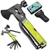 RoverTac Multitool Camping Accessories Survival Gear and Equipment 14 in 1 Hatchet with Knife Axe Hammer Saw…
