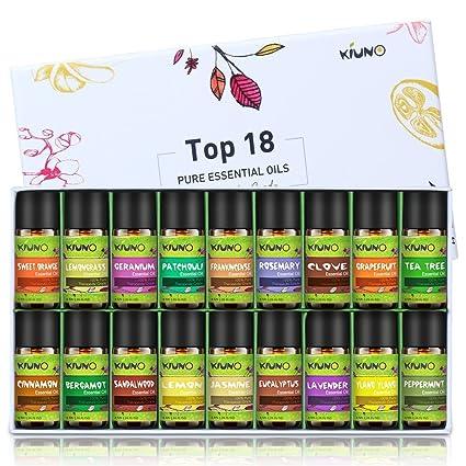 Aceites esenciales, 18 aceites de aromaterapia de 8 ml, set de regalo, sándalo