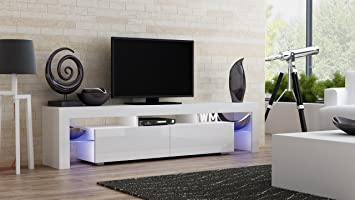 Amazon Com Tv Stand Milano Modern Led Tv Cabinet Living