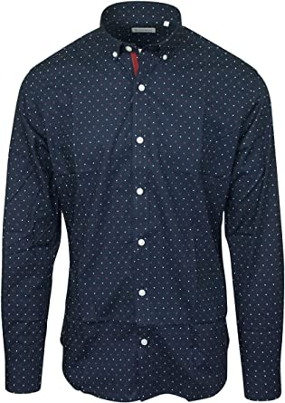 Serge Blanco Camisa Azul Noche