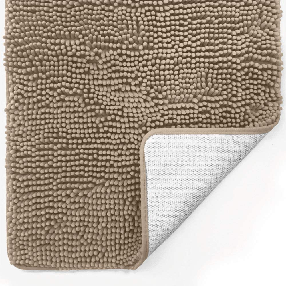 Gorilla Grip Original Luxury Chenille Bathroom Rug Mat 30x20 Extra Soft And Absorbent Shaggy Rugs Machine Wash Dry Perfect Plush Carpet Mats For Tub Shower And Bath Room Beige Home Kitchen Amazon Com