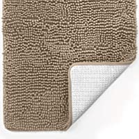 Gorilla Grip Original Luxury Chenille Bathroom Rug Mat, Extra Soft and Absorbent Shaggy Rugs, Machine Washable, Quick…