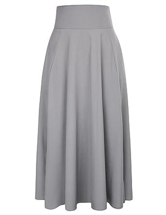 5e0af2bac3d7c5 Belle Poque Long Maxi Skirt for Women Ankle Length Flared Skirt Size 2XL