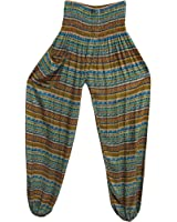 Indian Bohemian Gypsy Multicolor Ethnic Print Yoga Meditation Harem Pants