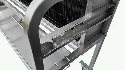 Tostador XXL Pro acero inoxidable Vertical carbón de madera ...