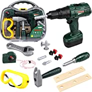 STEAM Life Kids Tool Set with Power Toy Drill | Toy Tool Set Contains Tool Box and Toy Hammer, Goggles, Power Drill and 11 Mo
