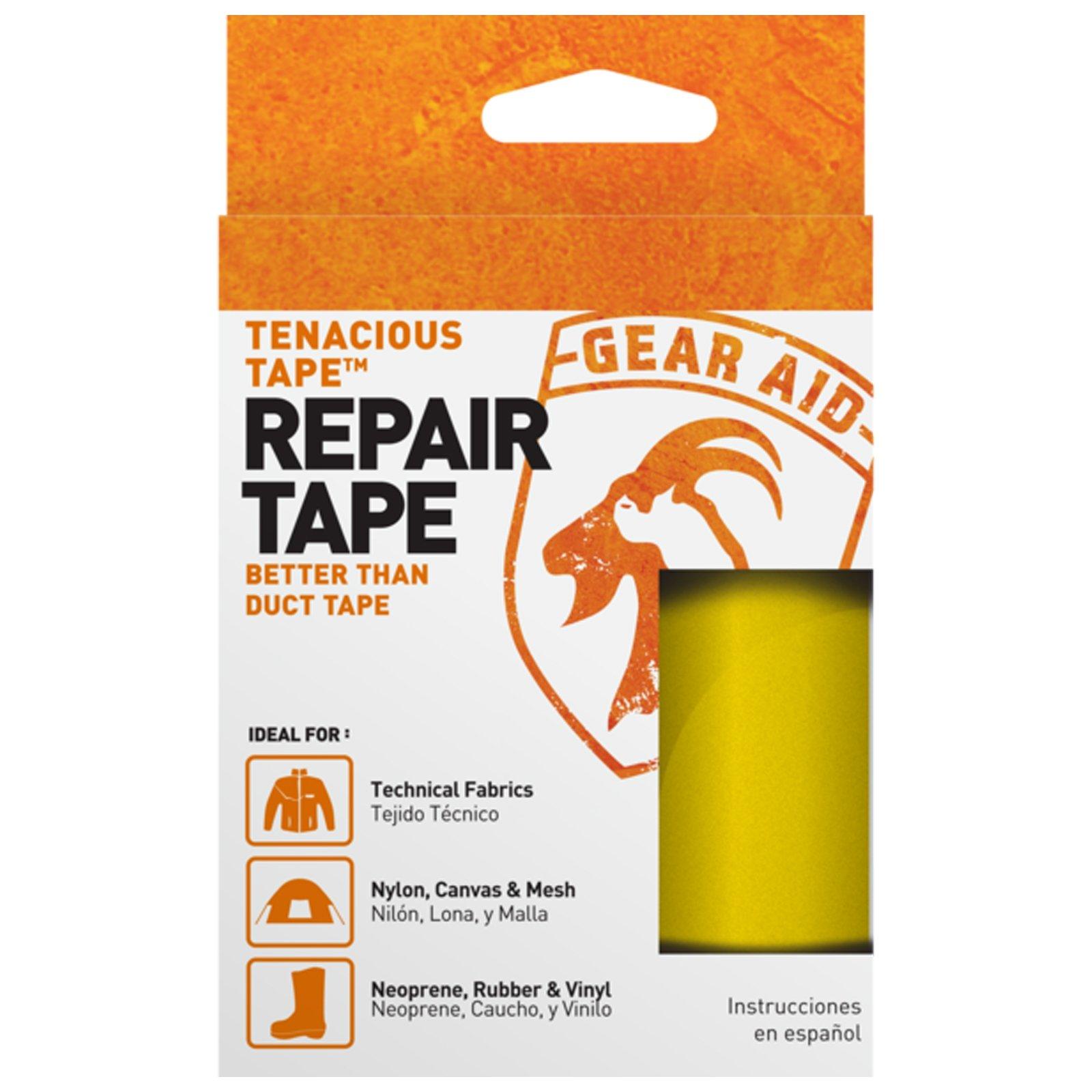 McNett Tenacious Repair Tape Clean Adhesive Outdoor All Purpose Gear - Yellow