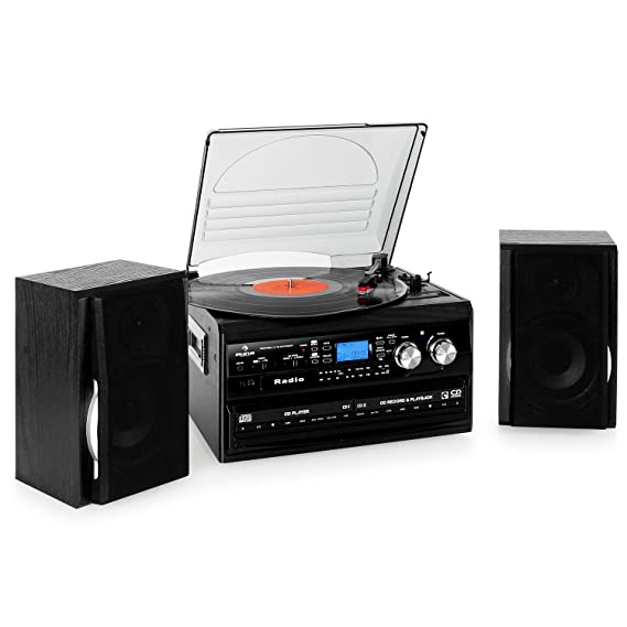 Auna Deerwood Equipo estéreo con Tocadiscos: Amazon.es: Electrónica