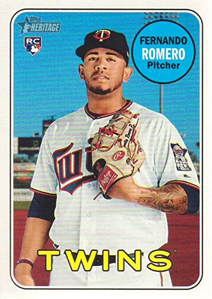 970d1543ae6 2018 Topps Heritage Baseball  688 Fernando Romero RC Minnesota Twins ...
