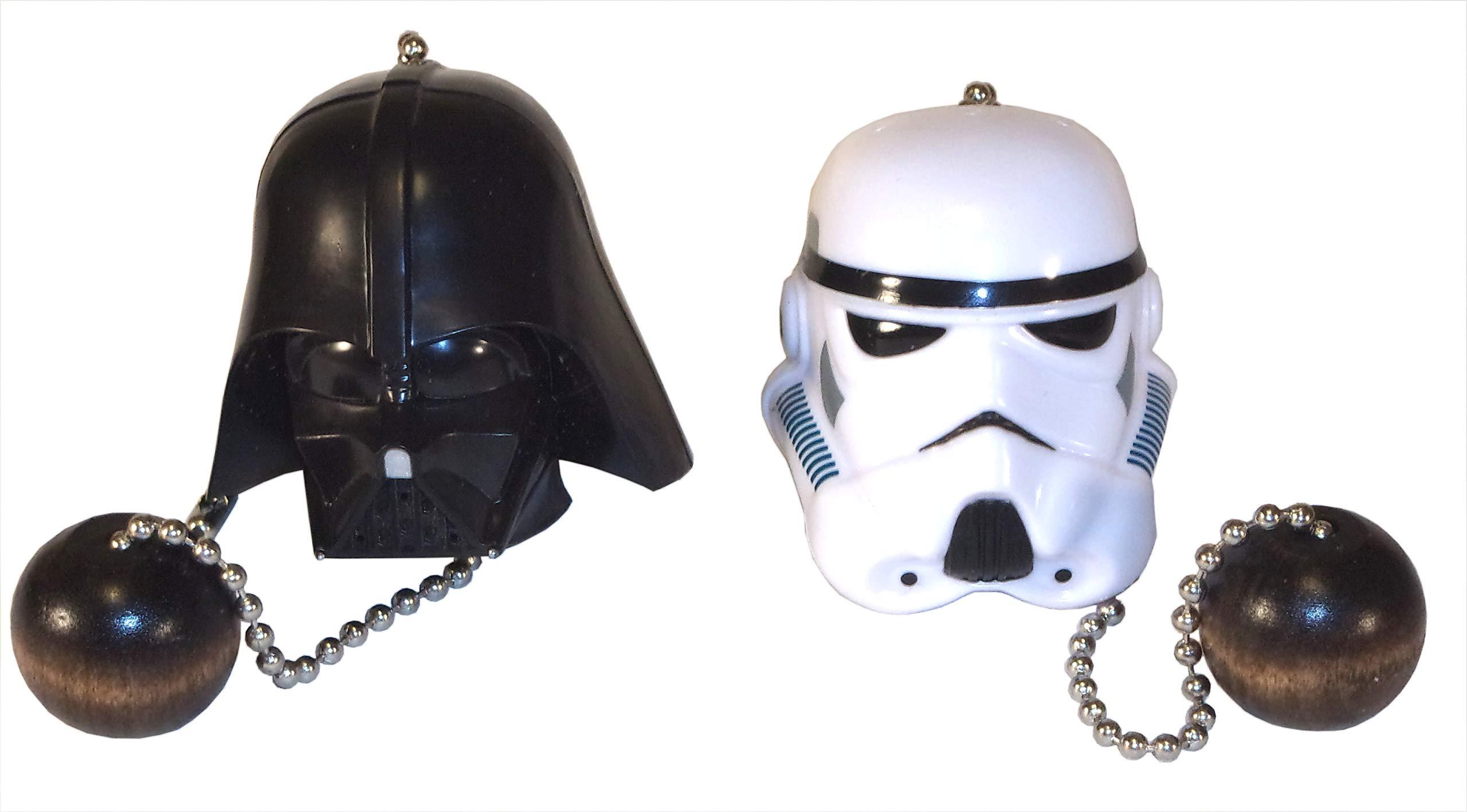Darth Vader Storm Trooper Helmets Ceiling Fan Pull Set by Wooden Androyd Studio (Vader Trooper Helmet)