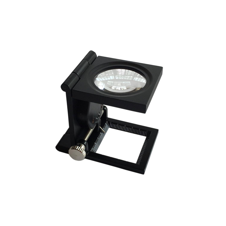 VSONE Ø 28mm Lente Ingrandimento Contafili Piegabile10X In Metallo Con 2 Luci a LED VISIONU