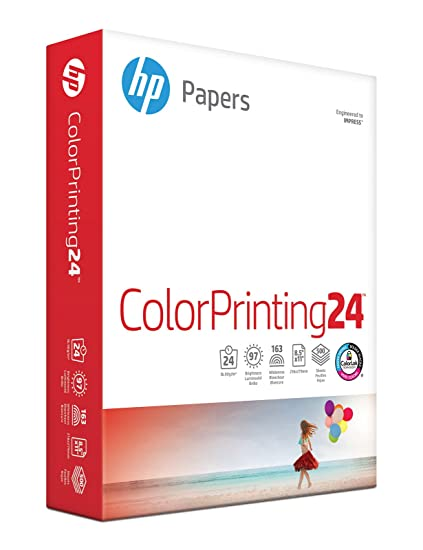 Amazon hp printer paper colorprinting24 85 x 11 letter hp printer paper colorprinting24 85 x 11 letter 24lb 97 bright malvernweather Image collections