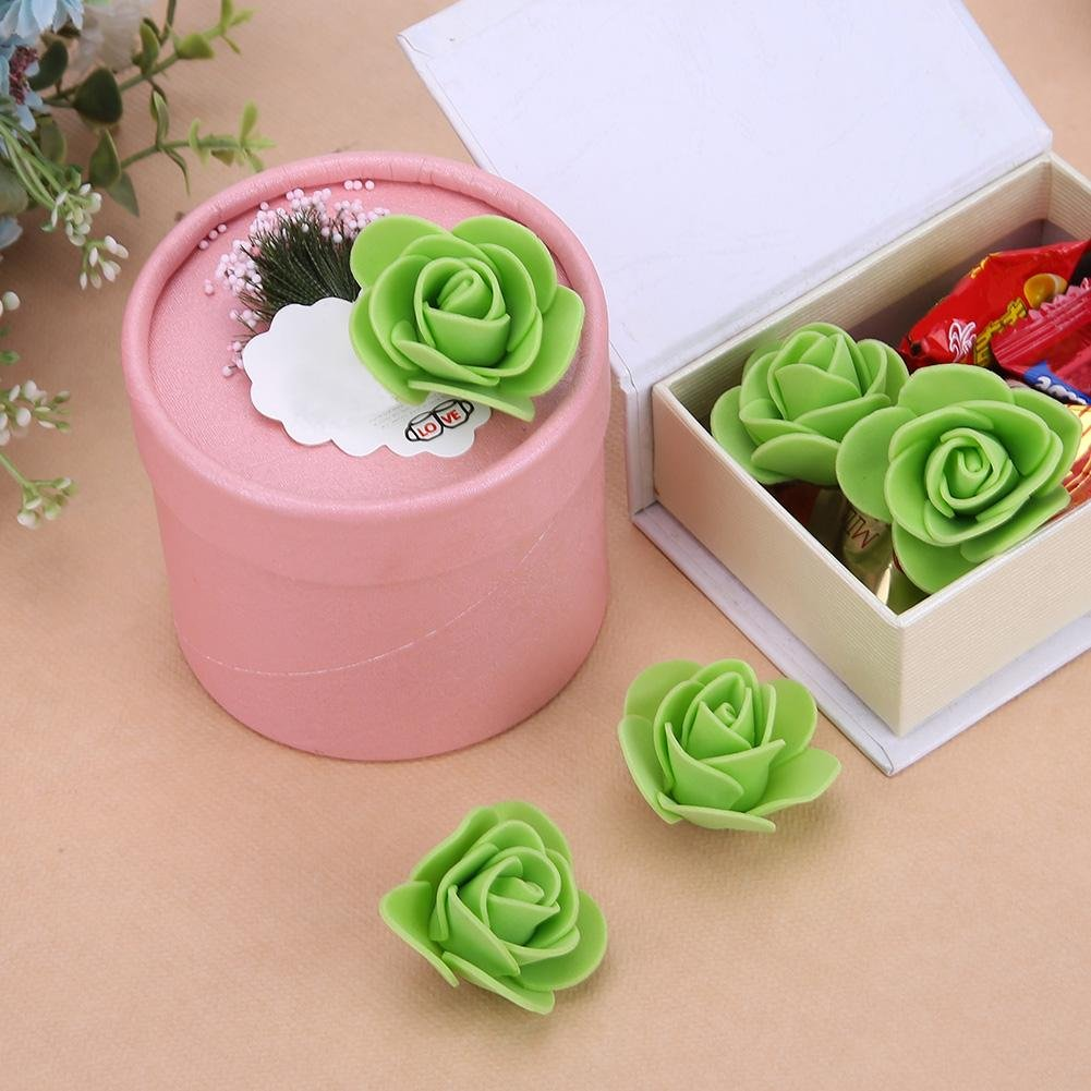 Amazon.com: Whitelotous 100pcs Artificial Foam Roses 3D Real Touch ...