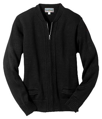 Edwards Garment Men s Crew Neck Zipper Heavyweight Cardigan Sweater at  Amazon Men s Clothing store  78395e3581f0