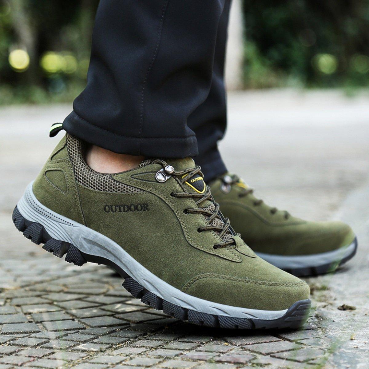 5da27882549ba NEOKER Wanderschuhe Trekking Schuhe Herren Damen Sports Outdoor Hiking  Sneaker Armee Grün Blau Schwarz Grau ...