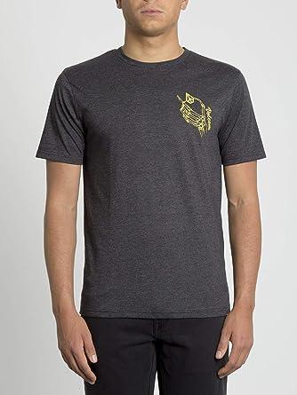 Volcom Camisa My World HTH Short Sleeve - Hombre Camisa - Heather Black: Amazon.es: Ropa y accesorios