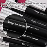 Qivange Makeup Brushes, 10 In 1 Synthetic