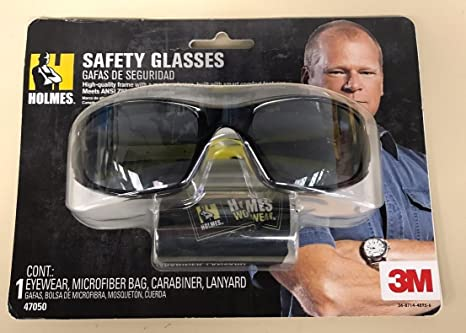 Holmes Fuel Safety Glasses Black Frame with Yellow Accents