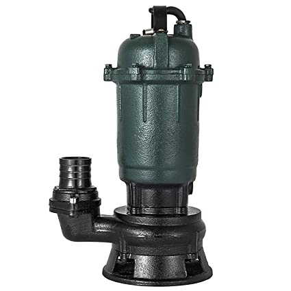 20M BuoQua Sewage Pump Sewage Dirty Water Pump 500W Electric Submersible Pump for Water Wells with 20M Hose
