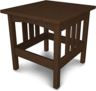 product image for POLYWOOD Mission 22-Inch by 24-Inch Side Table, Mahogany