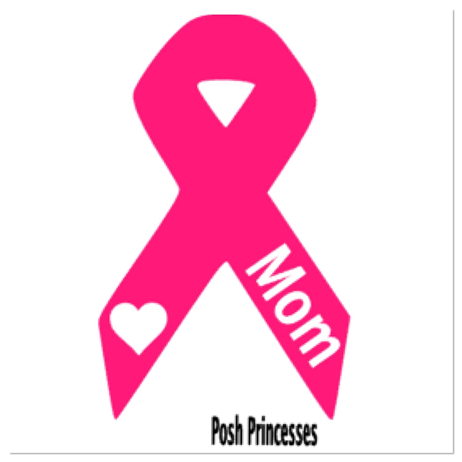 4 x Premium Quality Pink Breast Cancer Awareness Ribbon Logo Stickers