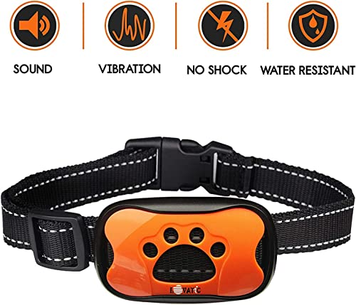 Wangou Lovatic Dog Bark Collar – No Shock Vibration Sound Humane Training Device for Small Medium Large Dogs – 7 Levels Sensitivity Adjustment – Best No Bark Control Collar