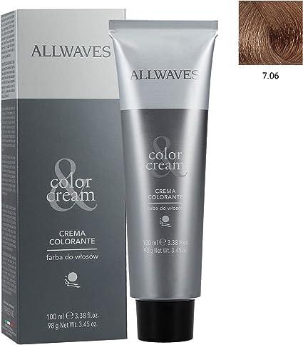 ALLWAVES Professionnelle Cream Color 7.06 Warm Medium Blond ...
