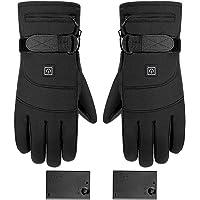 Verwarmde handschoenen, oplaadbare, op batterijen werkende elektrische handwarmer, 3 temperatuurniveaus, antislip…