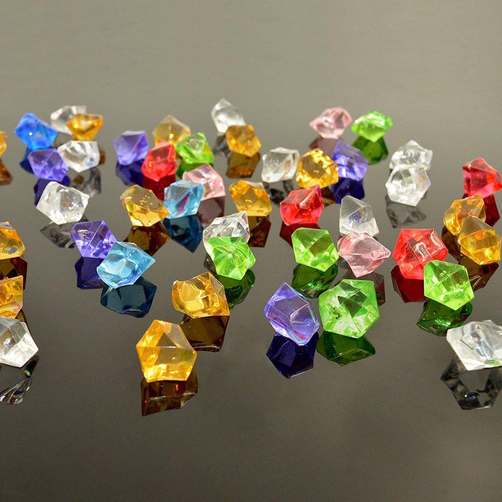 knowing 250g Kristall Glas Diamant,Dekosteine,Kristallglas Deko,Acryl Kristall,F/ür Hochzeitsgeschenke Home Decoration,Mischfarbe