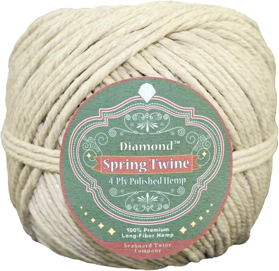 for Gardening More 1 lb - 270 feet All-Purpose Crafting Twine - SGT KNOTS Backpacking Crafting 4 ply - 3mm Long Fiber Polished Hemp Twine Spring Twine DIY Projects