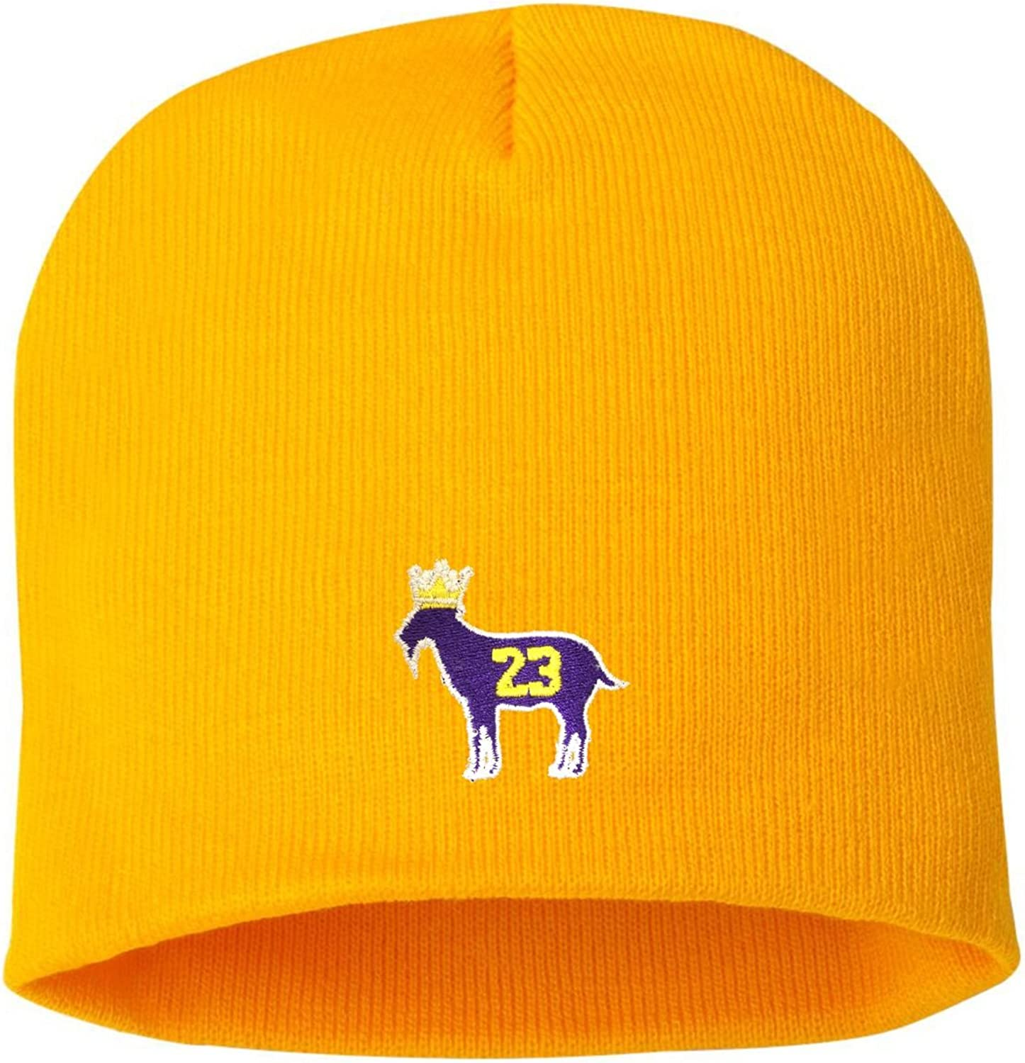 Adult Goat James G.O.A.T King Embroidered Knit Beanie Cap