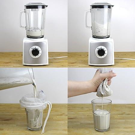 Compra Bolsa para hacer leches, Bolsa para Leche de Nuez, Bolsa filtro, Perfect Filtration 200 Micron, sin BPA, Robusto / Ecológico / Reutilizable, ...