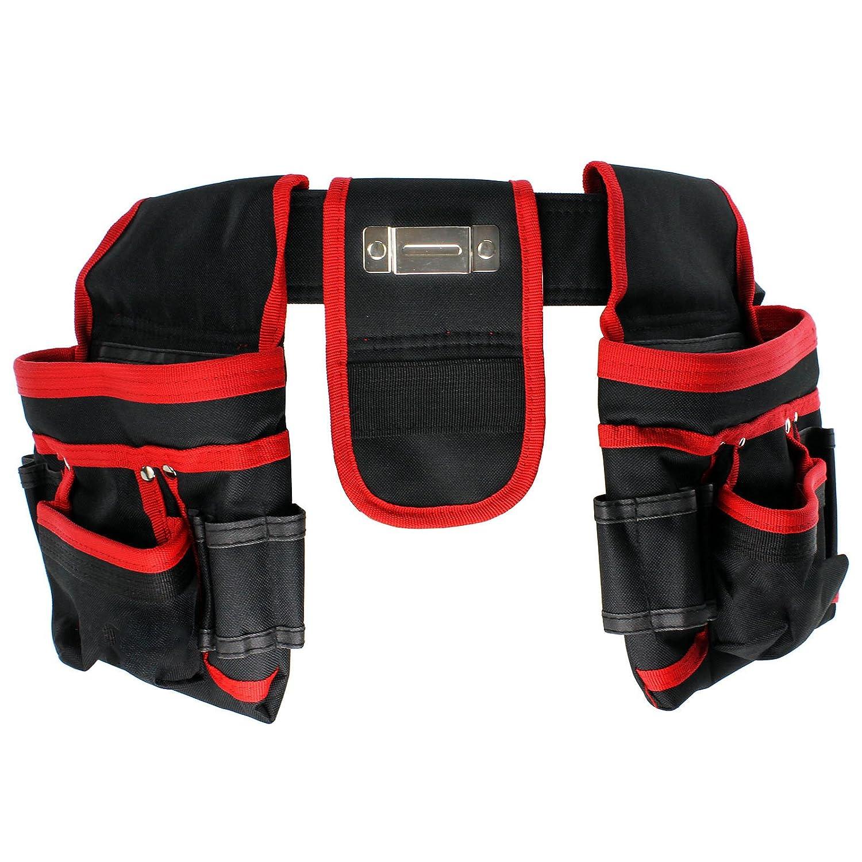 cintura doppia resistente con 20/tasche per attrezzi da falegname marsupio per chiodi muratore carpentiere SPARES2GO