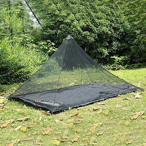 Mosquito Net - Outdoor Camping Mosquito Net Single Portable Polyester Mobile Folding Repelling Mat - Rainfly Indoor Stand Roll Seat V-fyee Outdoor Grey 10x12 Eno (Best Mosquito Repellent For Travel To India)