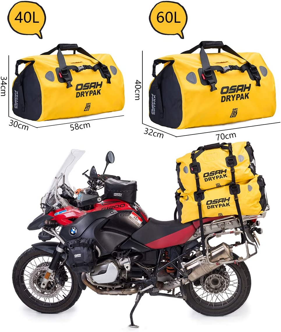 Motorcycle PVC Waterproof Reflective Tail Dry Bag Saddle Luggage Outdoor Duffle Accessories Sky-Camouflage 25L
