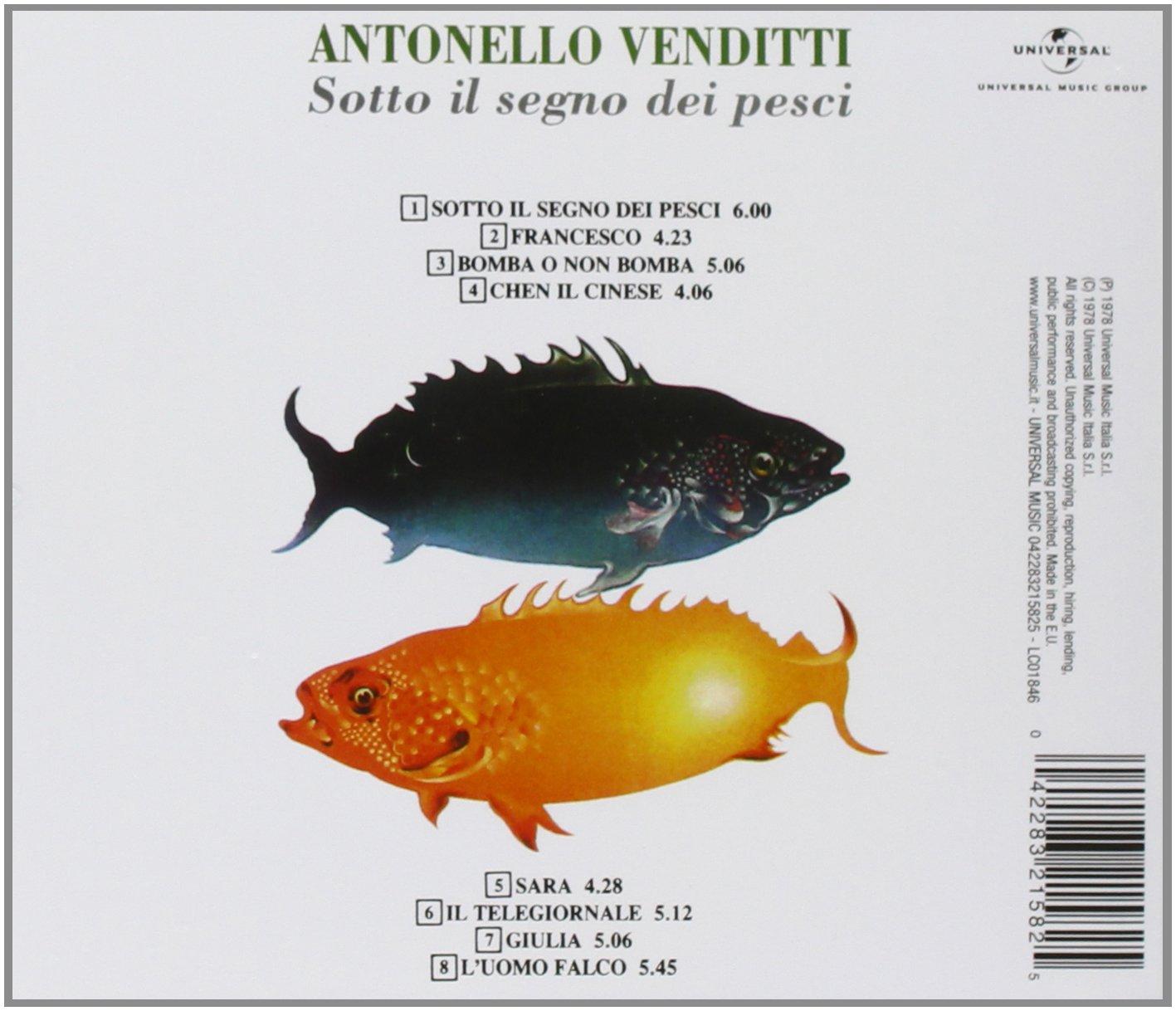 Risultati immagini per antonello venditti sotto il segno dei pesci in vinile