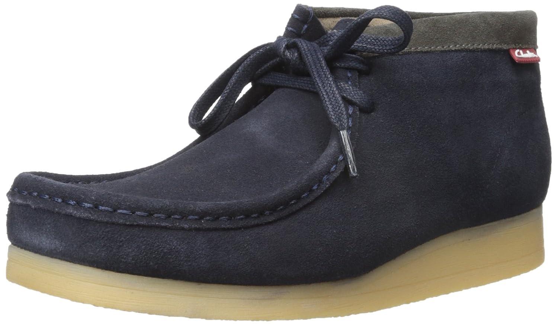 bluee Suede Clarks Men's Stinson Hi Lace-Up Boot
